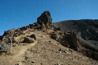 Tongariro National Park, Trail up to Red Crater